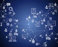 Collegamento a Internet di tecnologia Immagini Stock Libere da Diritti