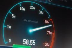 Collegamento a Internet veloce Immagine Stock