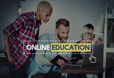 Collegamento online Conce di comunicazione di saggezza di conoscenza di istruzione Fotografie Stock