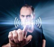Collegamento senza fili ad alta velocità Li-Fi Fotografia Stock Libera da Diritti