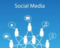 Collegamento sociale di media Fotografia Stock