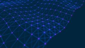 Collegamento strutturale di informazioni Trasferimento di dati nella connessione di rete Priorit? bassa astratta di dati rapprese illustrazione vettoriale