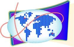 Collegamento in tutto il mondo Illustrazione di Stock
