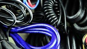 Collegare differenti Elettrico, telecomunicazione, telefono Molti cavi archivi video