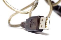 Collegare isolato USB Fotografie Stock Libere da Diritti