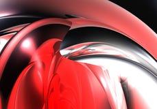 Collegare rosso del bubble&silver Fotografia Stock Libera da Diritti