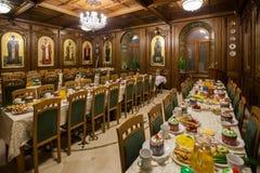 College- äta middag på påsken Royaltyfri Fotografi