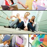 In the college Stock Photo