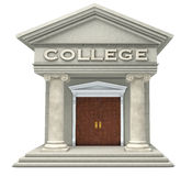 College. Iconic caricature of a college building isolated on a white background Stock Photography