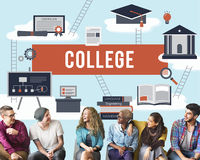 College Academic Education Institution Concept Royalty Free Stock Image