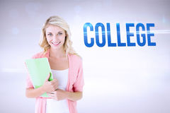 College against grey background Stock Images
