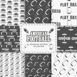 College american football team seamless pattern Royalty Free Stock Photography