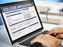 College Application Form Education Concept Stock Photography
