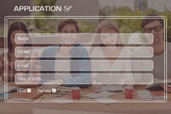 College application. Royalty Free Stock Photos