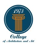 College of Architecture and Art emblem Royalty Free Stock Image