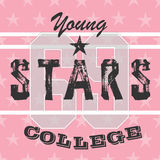 College athletic girls t-shirt typography,graphic. Royalty Free Stock Image
