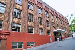 College-Aucklands Neuseeland ACG älteres Gebäude Stockbilder