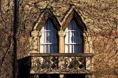 College balcony. A balcony of one of the colleges in Oxford, UK royalty free stock photo