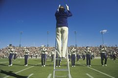 College band performing at Half time during football game, West Point, NY Stock Images