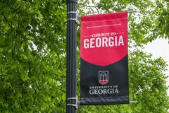Free College Banner And Emblem At University Of Georgia Stock Photo - 122545680