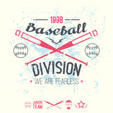College baseball division emblem Royalty Free Stock Images