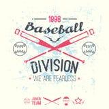 College baseball division emblem Royalty Free Stock Images