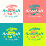 College baseball junior team emblem Stock Photo
