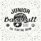 College baseball junior team emblem Stock Photography