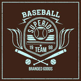 College baseball team emblem Royalty Free Stock Image