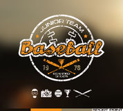 College baseball team emblem Stock Photos