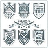 College baseball team emblem. Graphic design for t-shirt. Dark print on a white background Stock Image