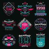 College baseball team emblems Royalty Free Stock Image