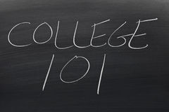 College 101 On A Blackboard Stock Photos