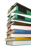A college book file. The college books file on white background Royalty Free Stock Photos