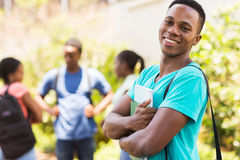 College boy on campus Royalty Free Stock Photography