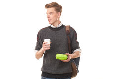 College boy about to have lunch Stock Images
