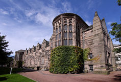 College Building de la universidad de Aberdeen de nuevo rey fotos de archivo