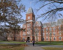 College building in fall Stock Image