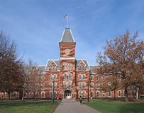 College building in fall Royalty Free Stock Photography