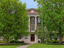 College building. Ivy league style brick college building with stone trim Royalty Free Stock Image