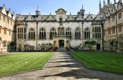 College building in Oxford, England Stock Image