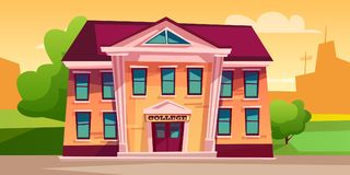 College building vector illustration royalty free illustration