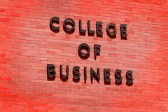 College of Business for Education Stock Image
