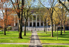 College Campus. In the spring Royalty Free Stock Photo