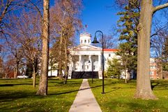 College Campus in Fall Stock Photo