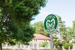 College Campus. Fort Collins, Colorado, USA-July 25, 2016. College campus during the Summer Royalty Free Stock Image