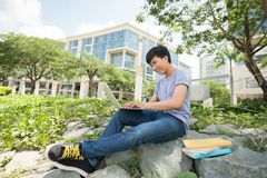On college campus Stock Images