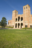 College Campus Lawn. Brick Building and campus lawn at a Los angeles school, Royce Hall Stock Photography