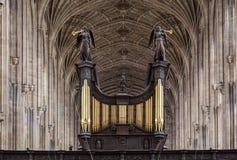 College Chapel剑桥英国国王 图库摄影