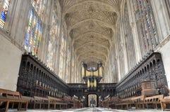 College Chapel, Cambridge de rey Imagenes de archivo